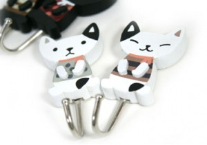 Cat Design Wall Hooks