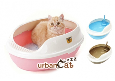 Makar Cat Litter Box With Sand Falling Foothboard