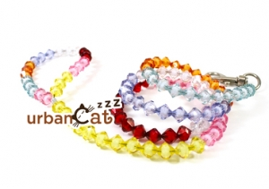 Acrylic Crystal Beaded Cat Leash